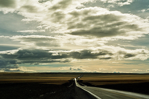 ...endless road in Patagonia