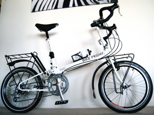 The fully assembled bike