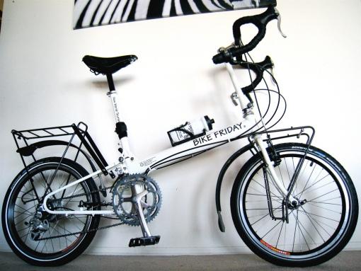 The fully assembled bike