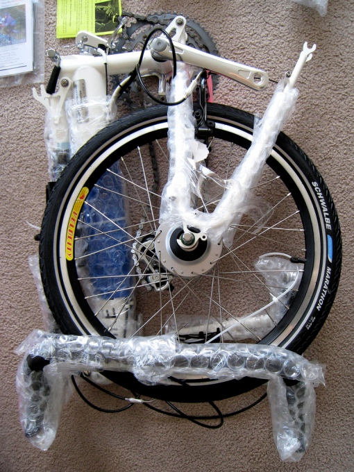 frame/fork & rear wheel/bars