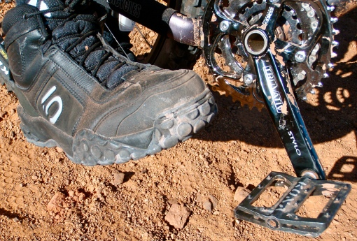 Kurt's 5.10 shoes & Kona BMX pedals