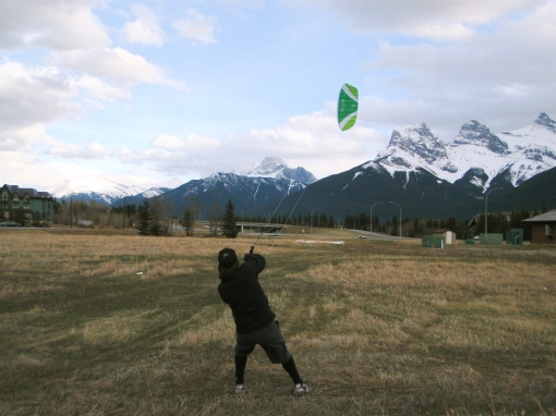 Kurt training with a 2.3m 2 line power kite.