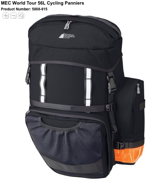 MEC.ca World Tour Panniers