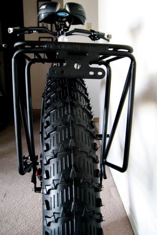 Kurt's Pug with a Filzer Rear Rack attached