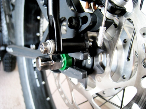 Filzer disc brake rear rack spacer