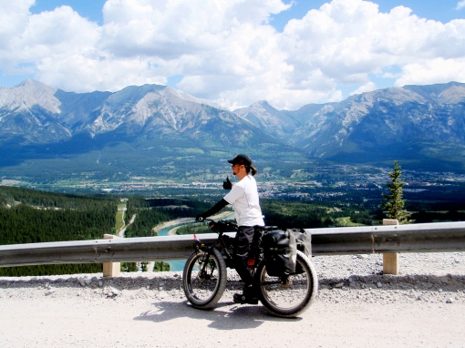 Kurt enjoys the view of Canmore and the end of our tour.