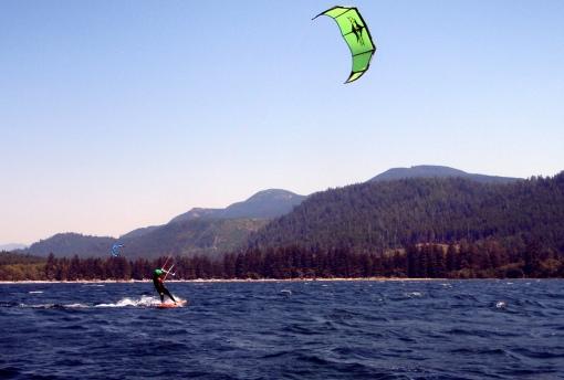 Kurt up and riding at Lake Nitinat