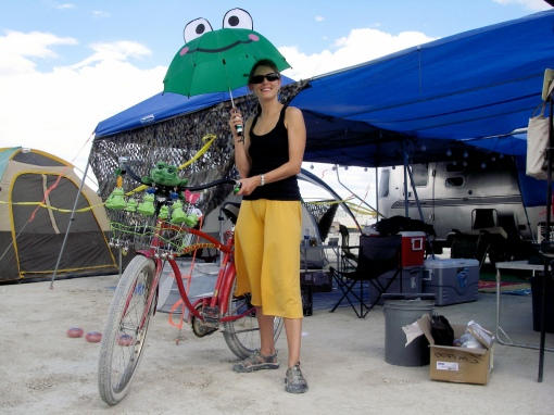 Sharon's Frog Bike - thanks Jeremy!...=-)