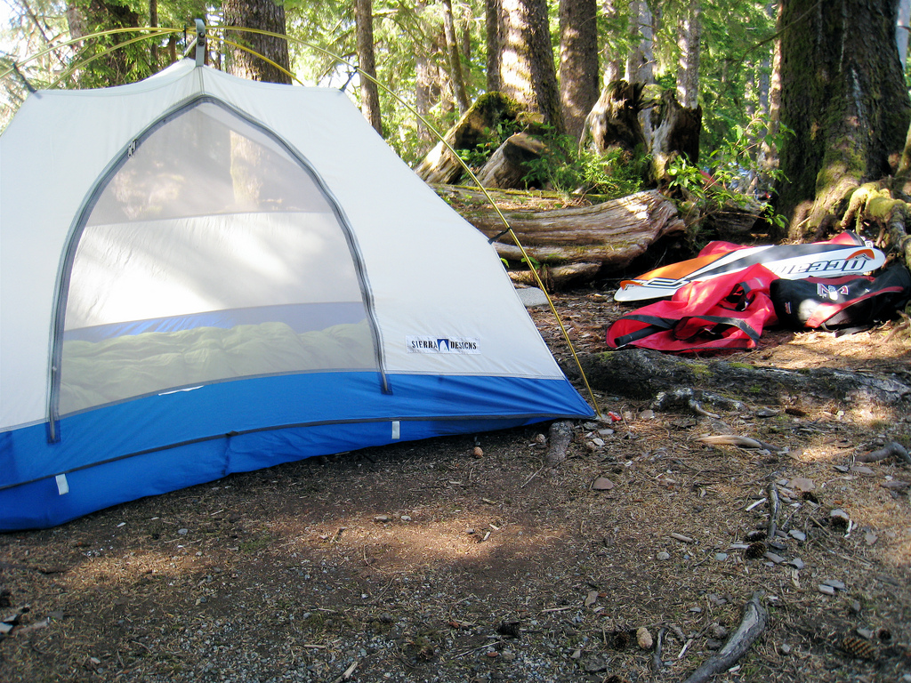 My trusty SD tent at Lake Nitnaht. & Sierra Design-ed to lastu2026 | The Lazy Rando Blog...