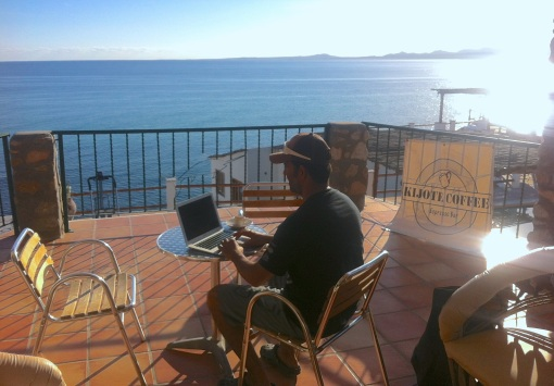 Espresso on the Sea of Cortez...