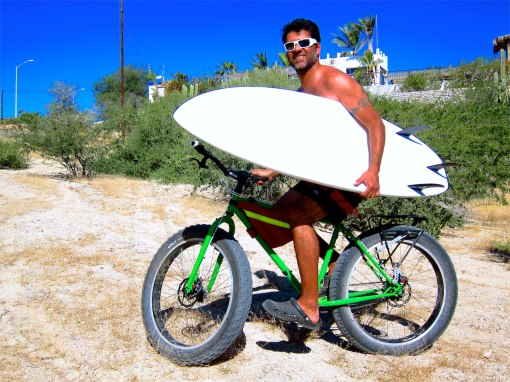 Baja beach fat biking...