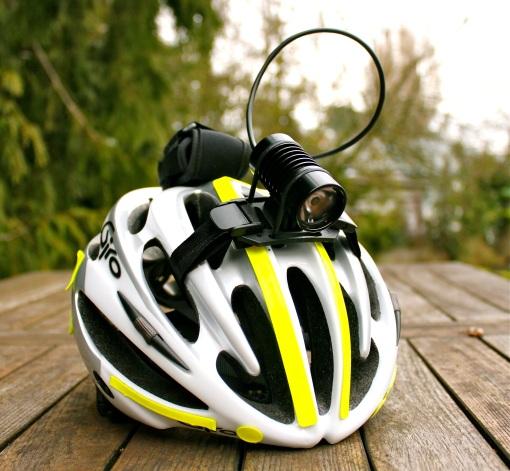 Dinotte XML-1 mounted to my helmet...