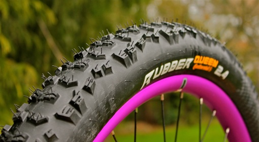 "Rubber Queen 2.4"" tires & Velocity P35 rims..."
