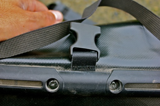 It's an easy fix with 2 bolts holing the buckle...