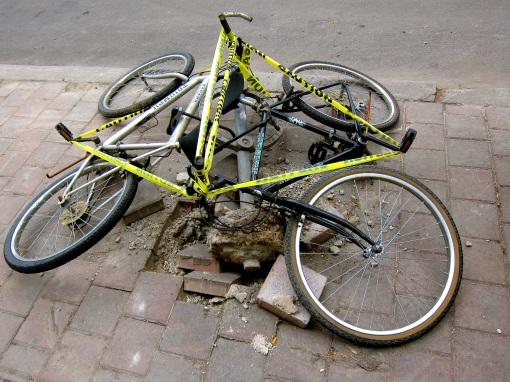 Bike crime scene...