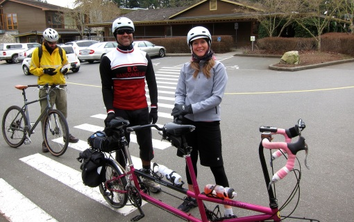 Team Raspberry Rocket mid-ride...