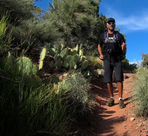 Hiking man!