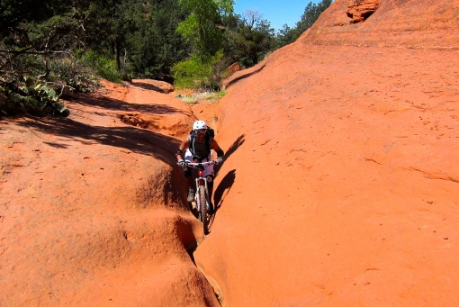 Climbing a crack...