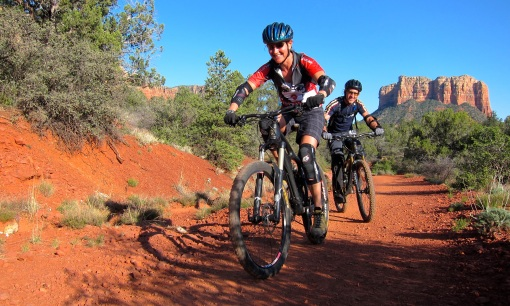 Sean and Deanna enjoy their Ibis Mojo HDs...