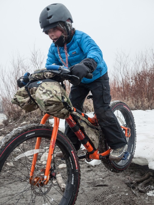 Fat bike action...