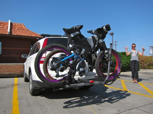 Bikes ready for the drive back to Canada...