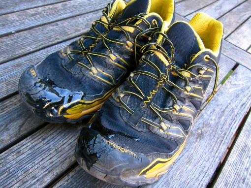 La Sportiva trail runners...