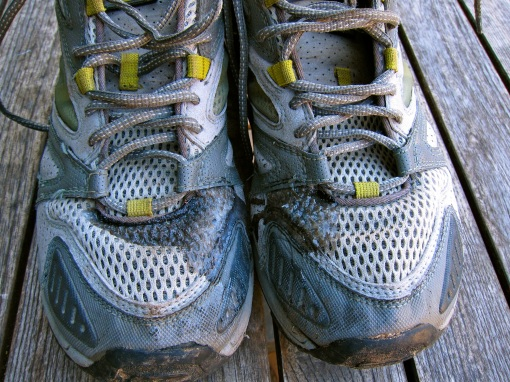 Montrail trail runners...