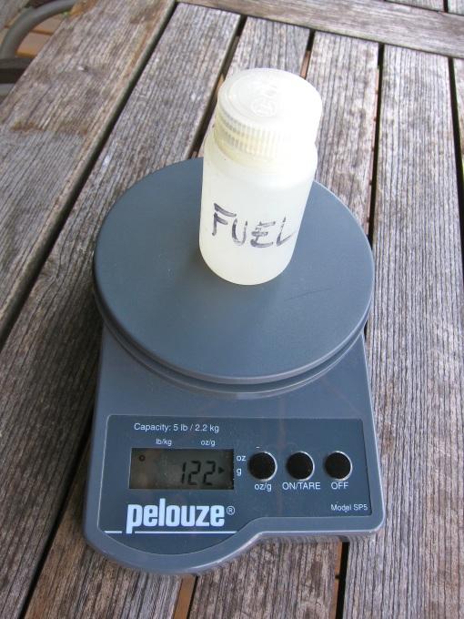 125 ml of feul...