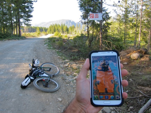 Cell service 50kms from nearest people...