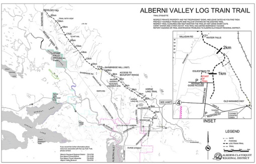 Log Train Trail Map - click for larger...