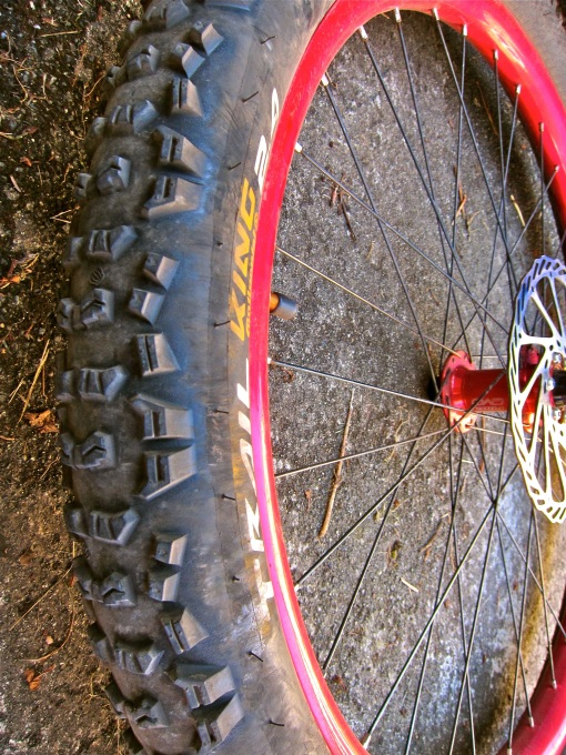 I kept the old front tire as a spare...